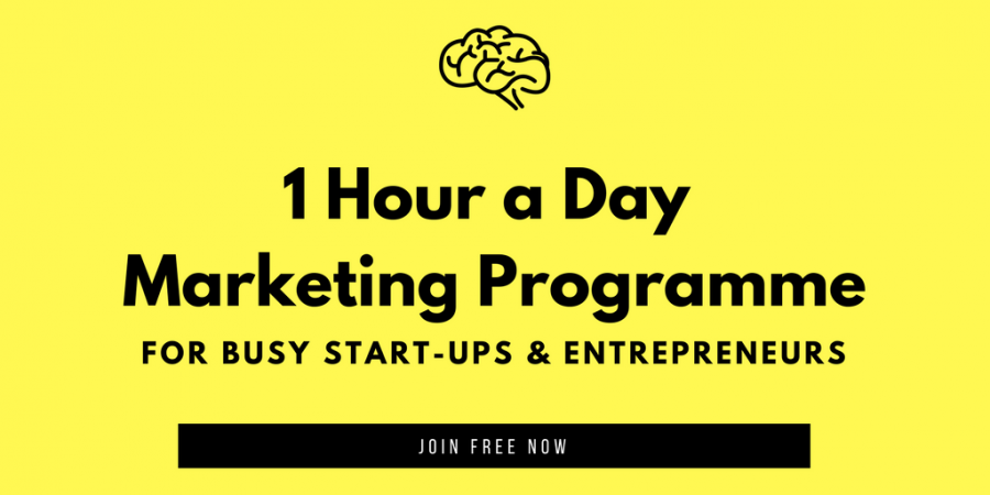 1 hour a Day Online Marketing Programme for Start-ups